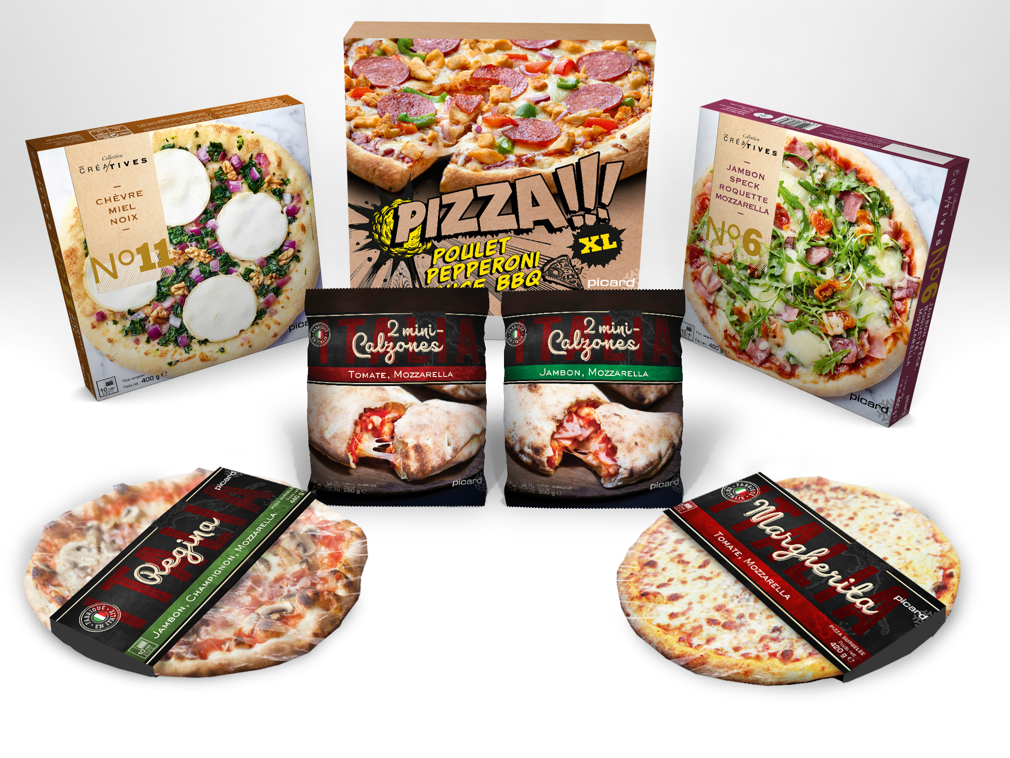 Packaging Picard Pizza par Score DDB° l'Agence Retail de DDB°
